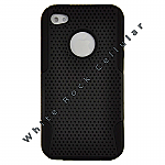 Apple iPhone 4/i4S Hybrid Mesh Case Black