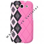Samsung i9300 (GS3) Shield Black/White Plaid on Pink